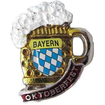 German Hat Pin: German Beer Stein with Oktoberfest