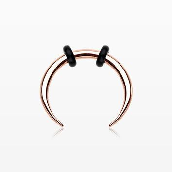 Rose Gold Basic Steel Pincher Septum Ring