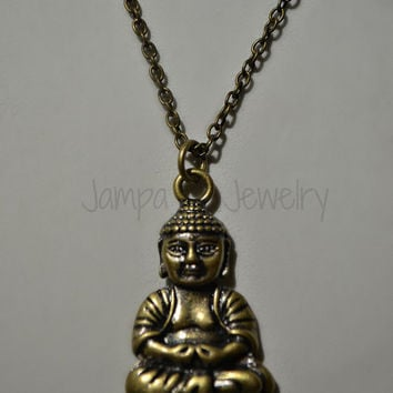 Buddha Necklace, Brass/Bronze