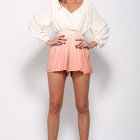 Change Of Scenery Playsuit Peach
