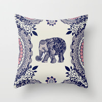 Elephant Pink Throw Pillow by rskinner1122