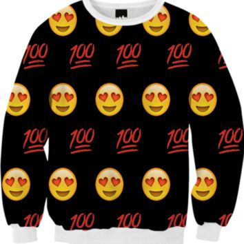 Emoji Sweatshirt created by trilogy-anonymous | Print All Over Me