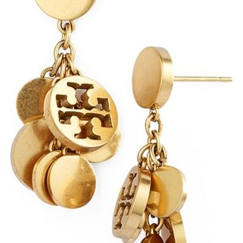 Women's Tory Burch Logo Charm Drop Earrings