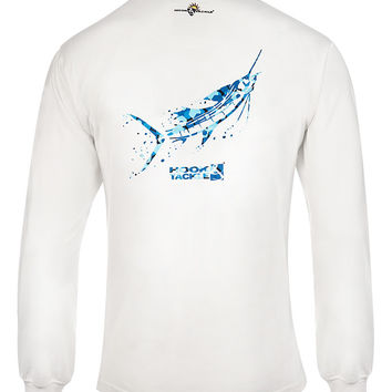 Men's Camo Sailfish L/S UV Fishing T-Shirt