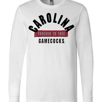 Official NCAA University of South Carolina Fighting Gamecocks USC COCKY SC Forever To Thee Long Sleeve T-Shirt - 63M-SC