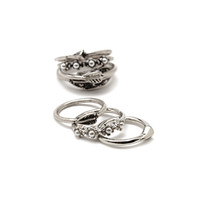 Faux Pearl Ring Set