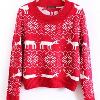X'max Deer Round Neck Sweater$42.00