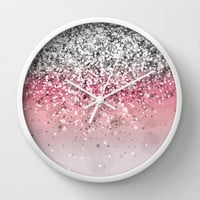 Spark Variations VII Wall Clock by Rain Carnival