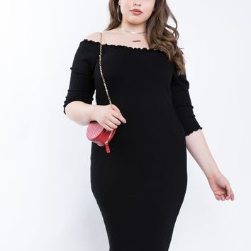 Plus Size Karlie Ribbed Bodycon Dress