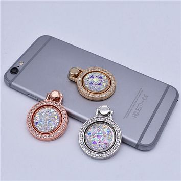 Crystal jewel ring phone grip and holder