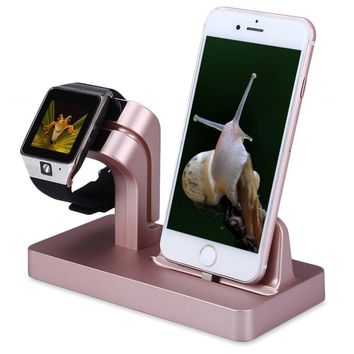 Apple Watch Charger Stand Dock, FACEVER Stand Holder & Charging Docking Station For Apple iWatch, iPhone, iPod -Rose gold