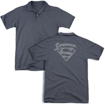 Superman - Super Arch (Back Print) Mens Regular Fit Polo