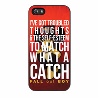 Fall Out Boy Watch A Catch Quote iPhone 5 Case