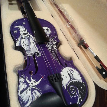 HandPainted Nightmare Before Christmas by ChildatHeartPainter