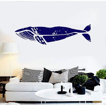 Vinyl Wall Decal Whale Marine Animal Ocean Style Stickers Unique Gift (ig4297)