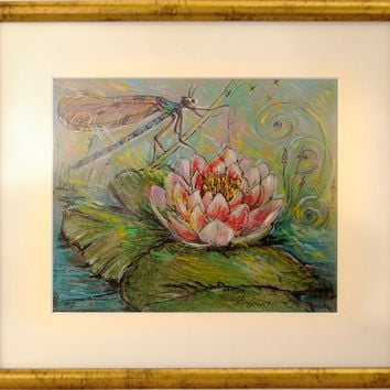 """Original pastel drawing, Set of 3 pictures """"Summer Memories"""", Pastel painting, Wall decor, Wall art, Handmade artwork, Unique gift."""