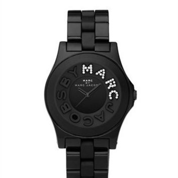 BLACK RIVERA WITH GLITZ 'MARC' - MBM4527 - Marc By Marc Jacobs - Watches - Marc Jacobs