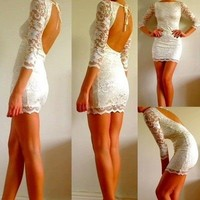 Style / Little White Lace Dress