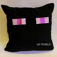 Free Shipping 2014 Hot Selling Minecraft Enderman Soft Plush Hold Pillow Same Day Shipping