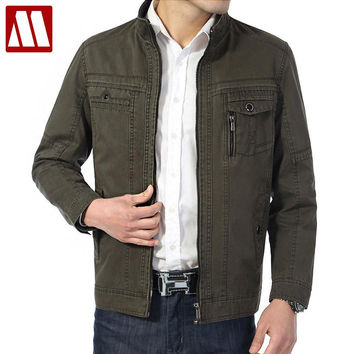 jacket New autumn/winter cotton jackets men leisure cargo coats, male business causal trench coat