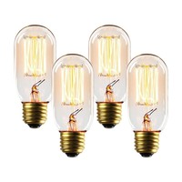 Set Of 4 - Placer T14 Vintage Edison Bulbs 40W