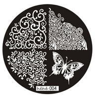 Creative 2015 Butterfly Lace Template Pattern Nail Art Image Stamping Steel Plates 5.5cm Manicure Template