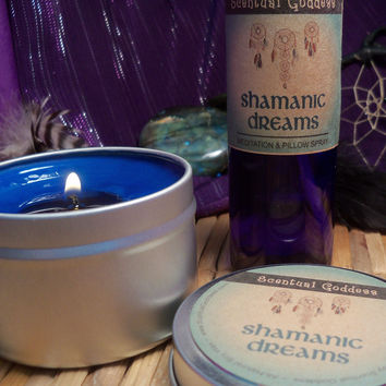 SHAMANIC DREAMS SET - Work With Your Guides & Spirit Animals Shamanic Journey Pillow Spray