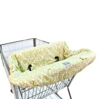 Itzy Ritzy Ritzy Sitzy™ Shopping Cart & High Chair Cover in Avocado Damask
