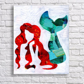 The little mermaid - Ariel art print - Disney princess- Whimsical art