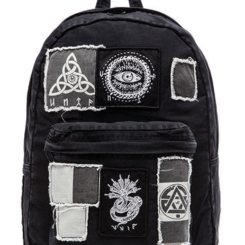 UNIF Patches Backpack in Black