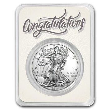 2019 1 oz Silver American Eagle - Just Married Congratulations