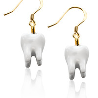 Designer Tooth Charm Earrings