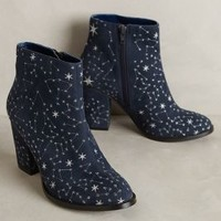 Billy Ella Embroidered Star Booties in Navy Size: