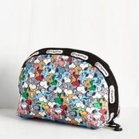 Travel Pup of Many Personas Makeup Bag by LeSportsac from ModCloth