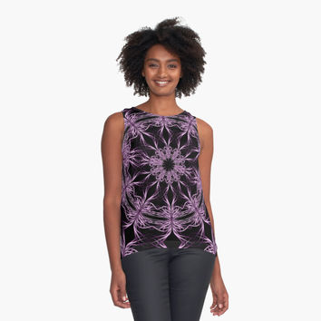 'Mandala purple and black. ' Contrast Tank by VanGalt