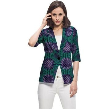 ESBONHS Elegant women casual balzer jackets african print fashion coats ladies casual dashiki coats of africa clothing