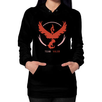 Team Valor Hoodie (on woman) Shirt