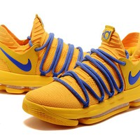 2017 Nike  Zoom KD10  Kevin Durant 10 Ⅹ  Mens Warrior Yellow  Basketball Shoes