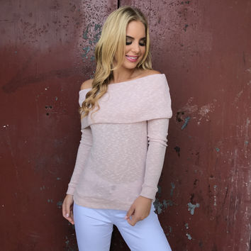 Soft Spot Off Shoulder Top In Pink