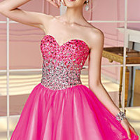 Short Strapless Sweetheart Alyce Dress