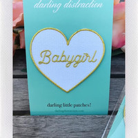 DARLING DISTRACTIONS BABYGIRL PATCH GOLD