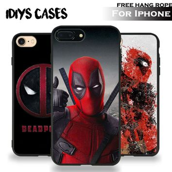 Deadpool Wade Wilson Coque Tpu Soft Silicone Phone Case Cover Shell For Apple iPhone 5 5S SE 6 6S 6Plus 6sPlus 7 7Plus 8 8Plus X