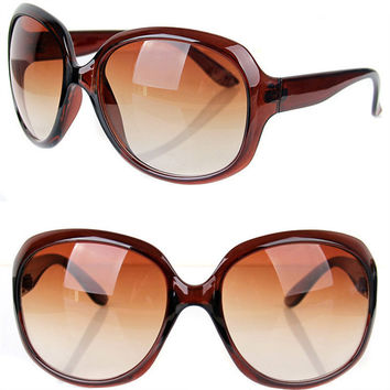Fashion Retro oversized Round Sunglasses Women Brand Designer Sun Glasses bamboo Women's Glasses Female Goggle UV400 Eyeglasses