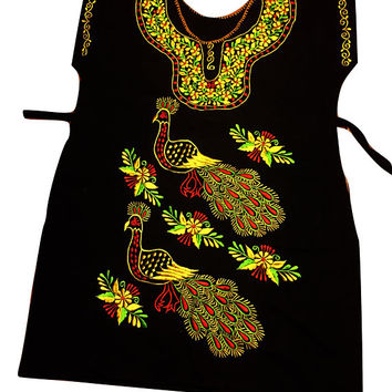 Mexican embroidered dress 06