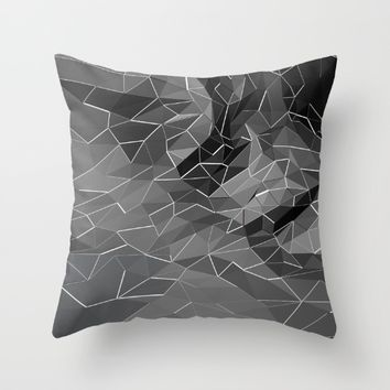 Abstract black explosion. Geometric background Throw Pillow by Taoteching / C4Dart