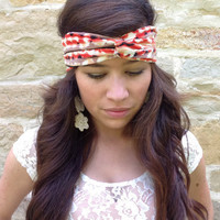 Turban Stretch Headband in Tribal/Aztec
