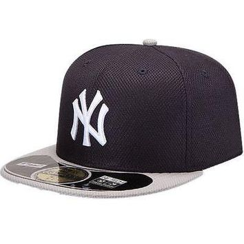 New York Yankees Hat Fitted New Era Road Diamond Era 59Fifty Baseball Cap MLB