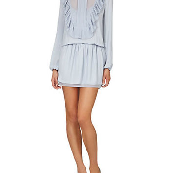 Bcbgmaxazria Ruffled Bib Blouson Dress