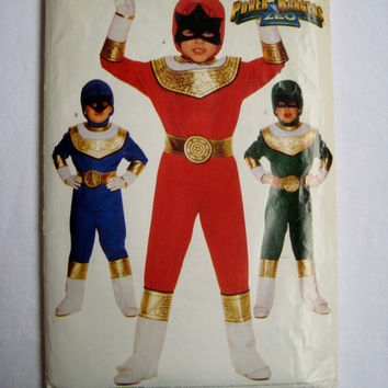 Butterick 4659 Sewing Pattern Mighty Morphin Power Rangers Costume Child Kid Halloween All Sizes Height 35 - 61 Inches UNCUT