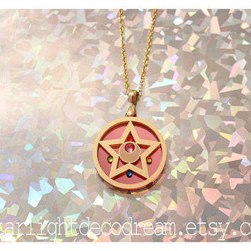 Sailor Moon Crystal Star Inspired Acrylic Necklace for Mahou Kei & Magical Girl Fashion